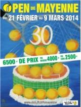 Affiche CNGT Open Mayenne 2014 sans Sponsors 10 pour_cent