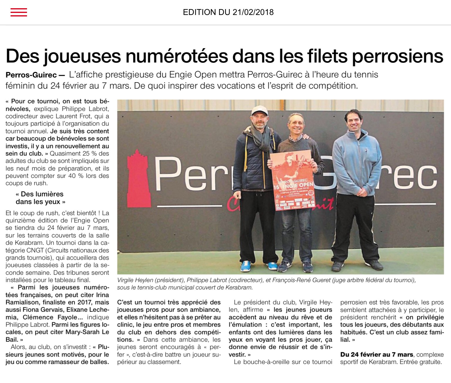 Article Ouest France 21.02.18