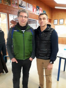 Hervé Thévenon et arbitre Joël Fabas